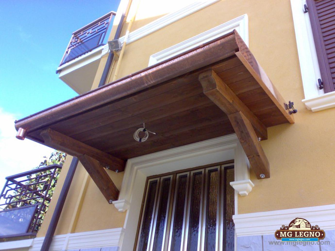 Pensiline in legno - Pensiline ingresso casa ...